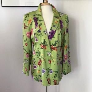 Silk, floral jacket.